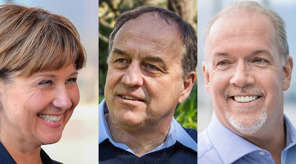 Christy clark andrew weaver john horgan bc government bc green party bc ndp