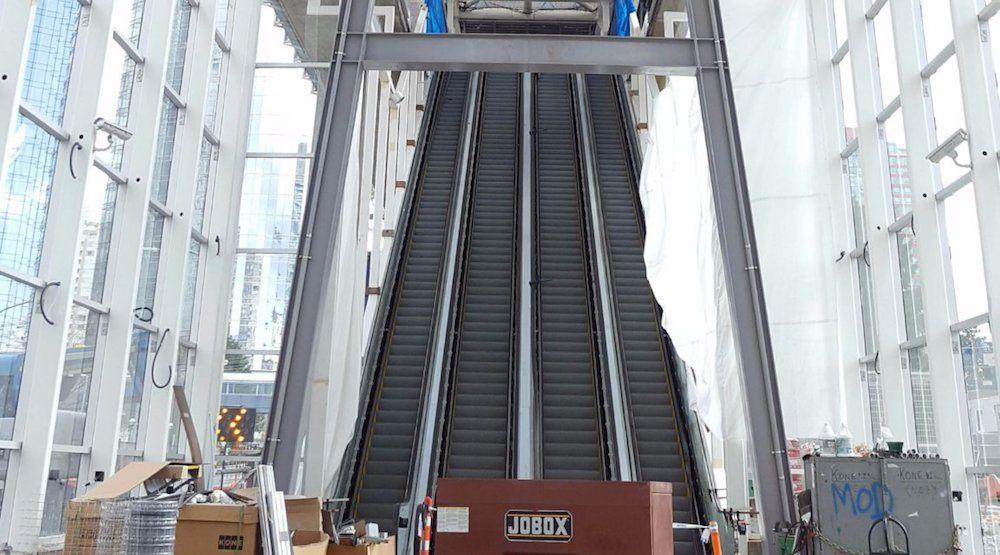Metrotown station escalators