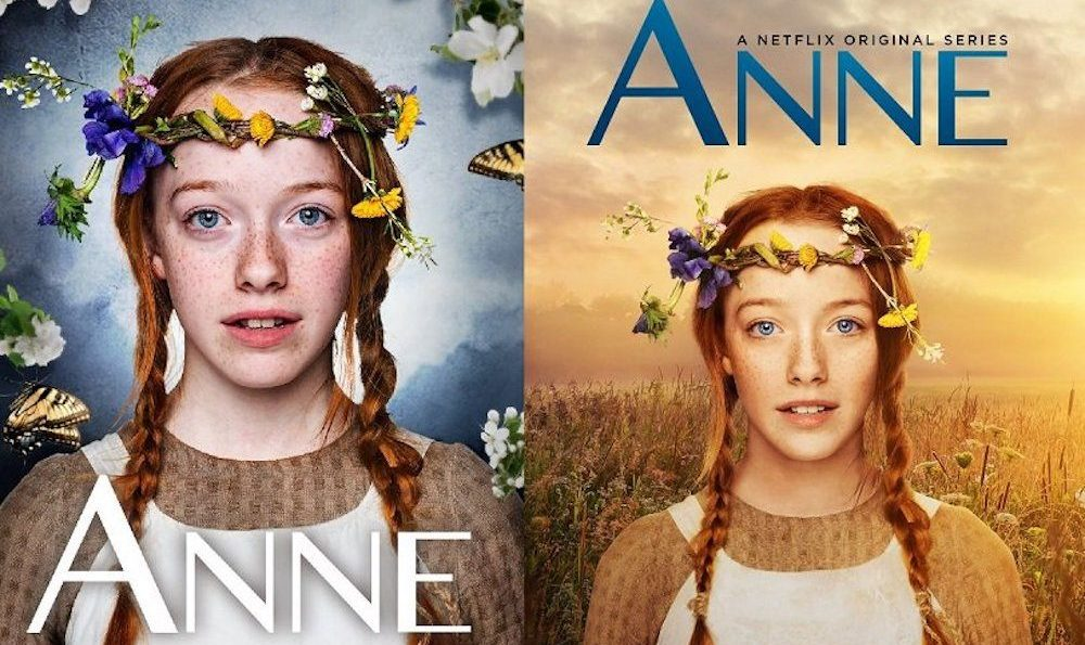 Canadian Anne got a photoshop makeover for American Netflix