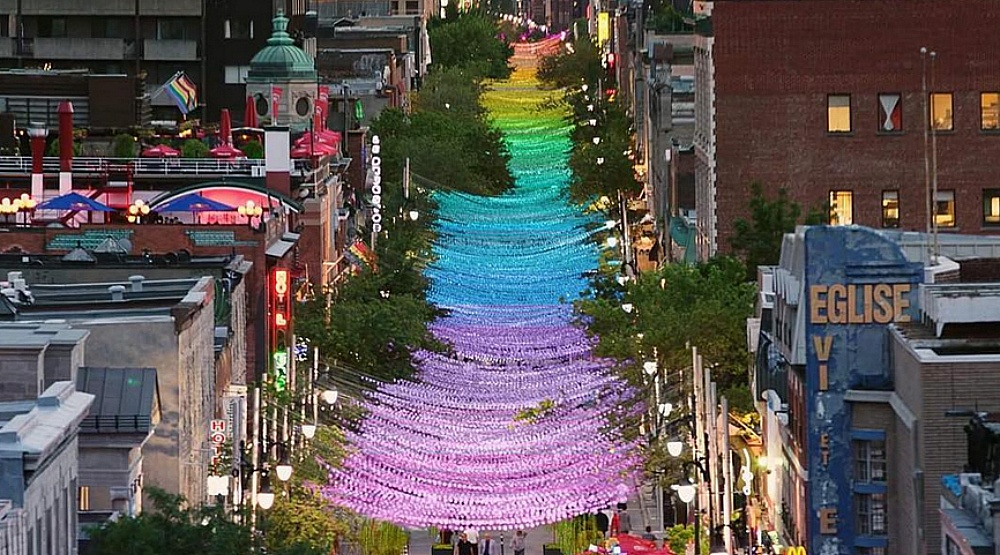Montreal's Gay Village iconic pink balls are getting the rainbow treatment this summer