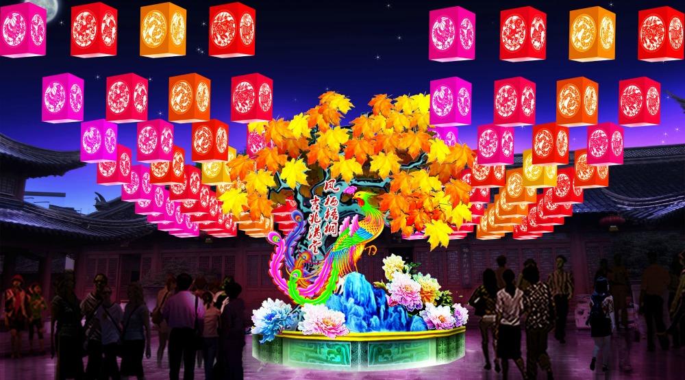 Zodiac lanternillumination summer night market
