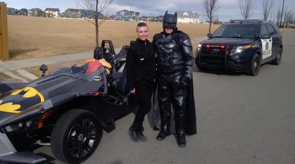 Batman has a run in with the cops in this Canadian city (PHOTOS)