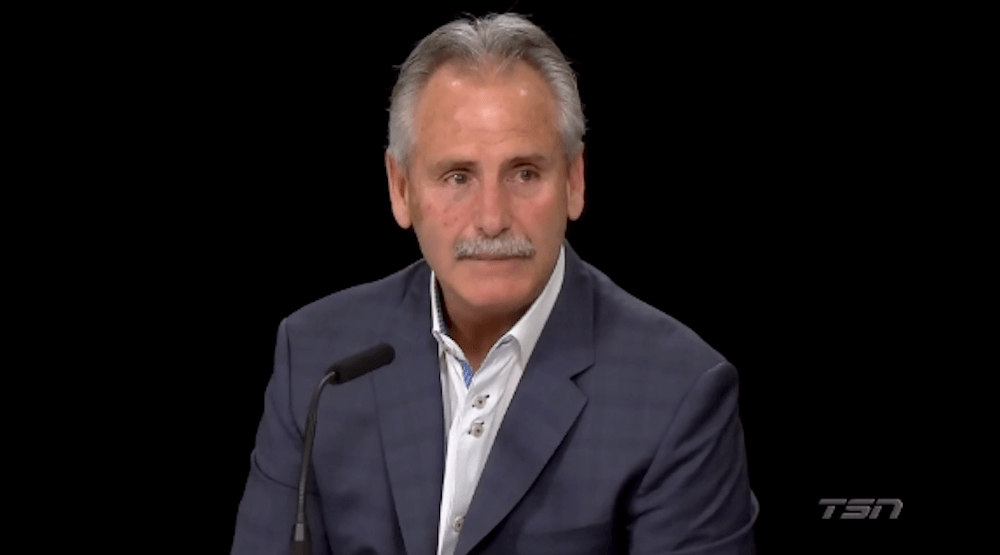 Recently fired Canucks coach Willie Desjardins delivers emotional final press conference