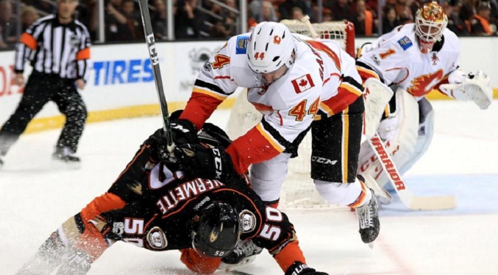 Penalties cripple Flames again in Game 2
