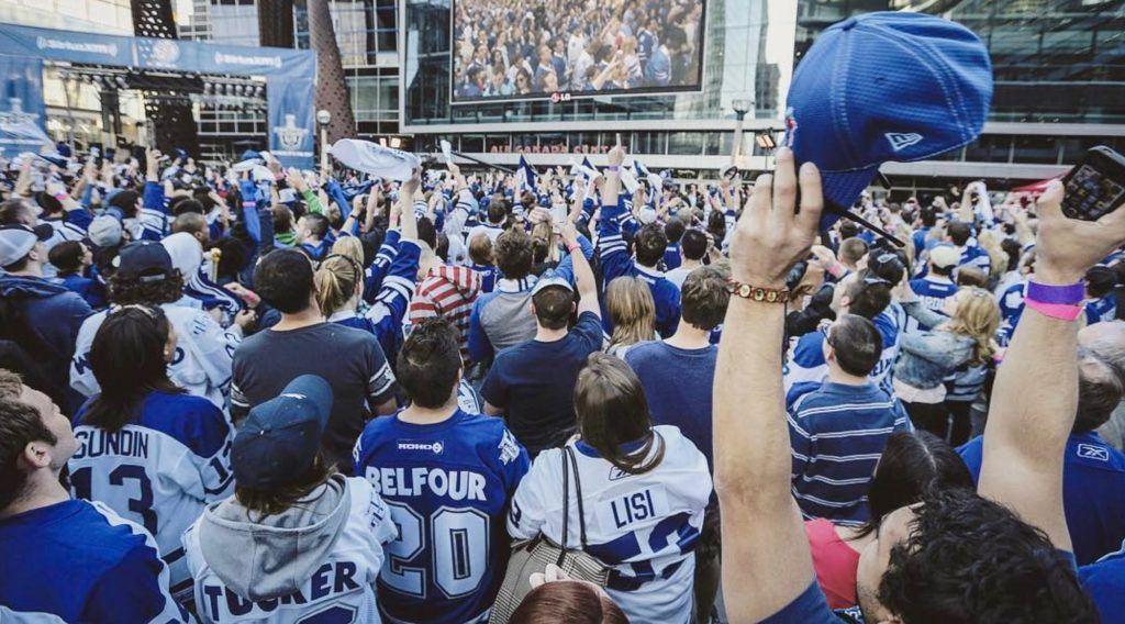 Toronto Maple Leafs Square ACC Crowd