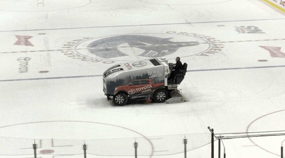 Spotted on Reddit: Canucks Zamboni driver celebrates end of season with ice donuts (VIDEO)