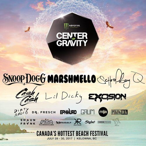 Center of Gravity 2017 lineup (Center of Gravity)