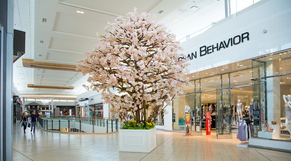 Beautiful 20-foot tall cherry blossom tree now in Chinook Centre and Market Mall