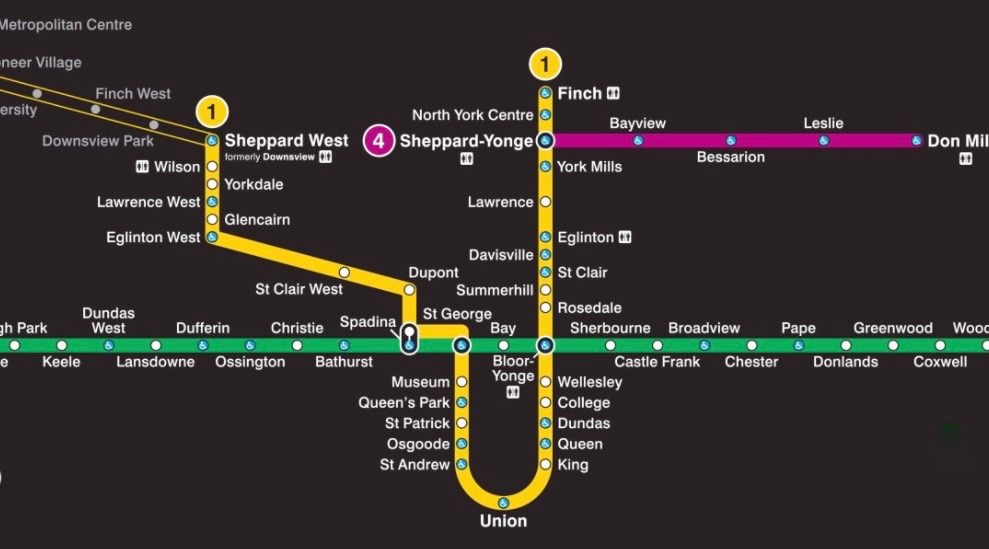 Ttc Station Map First look: New TTC map featuring Line 1 extension and new station