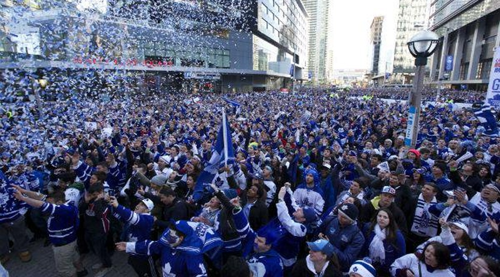Maple Leaf Square hosting epic Leafs and Raptors joint tailgate party tonight