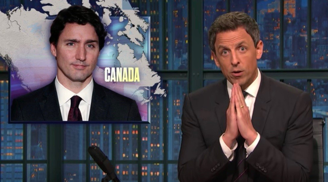 Seth Myers goes after Trump for Canada confrontation (VIDEO)
