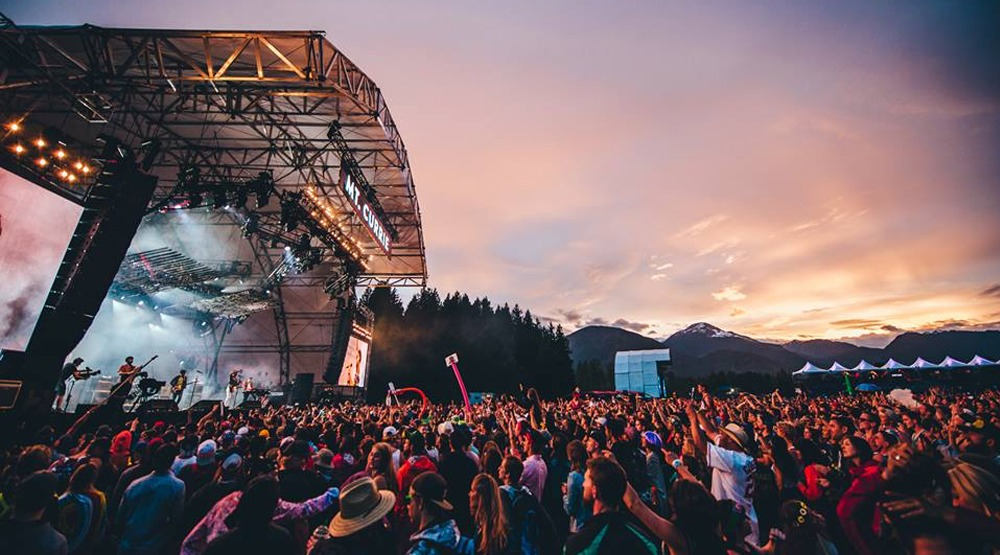Pemberton music festival evening