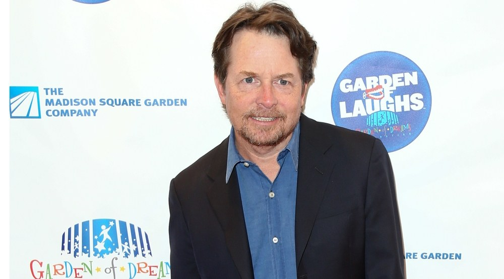 Actor Michael J. Fox attends the 2015 Garden Of Laughs Comedy Benefit at the Club Bar and Grill at Madison Square Garden on March 28, 2015 in New York City.