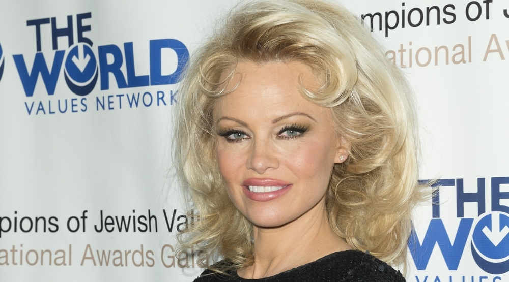 May 5, 2016: Pamela Anderson attends 4th annual champions of Jewish values international awards gala at Marriott Marquis Times Square