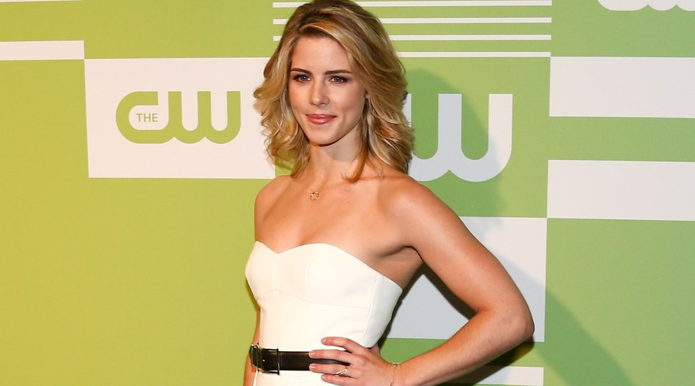 Actress Emily Bett Rickards attends the 2015 CW Network Upfront Presentation at the London Hotel on May 14, 2015 in New York City.