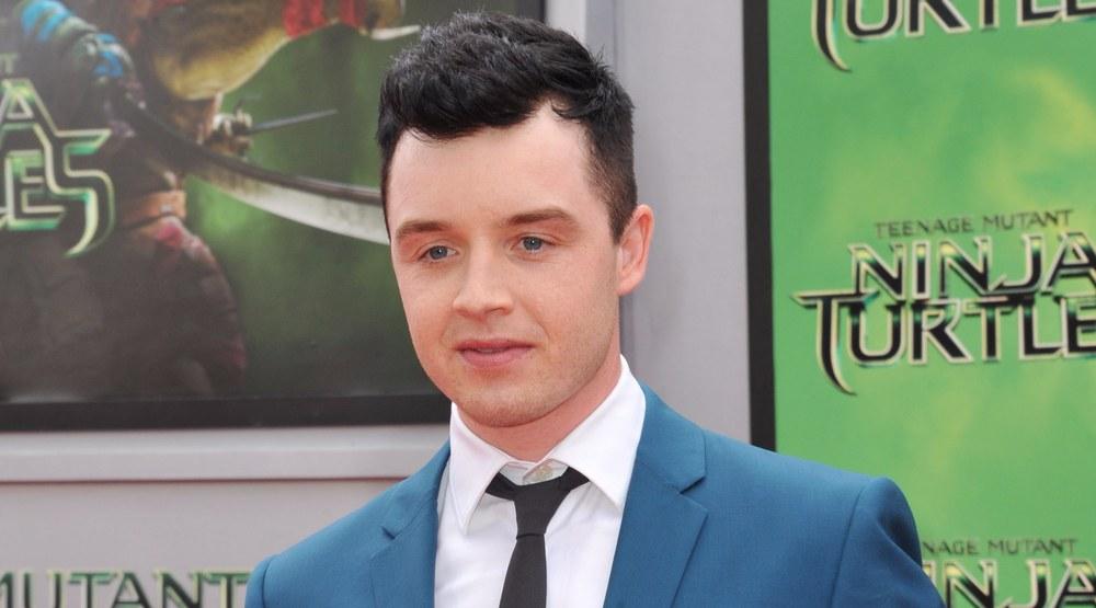 """August 3, 2014: Noel Fisher at the premiere of his movie """"Teenage Mutant Ninja Turtles"""" at the Regency Village Theatre, Westwood."""