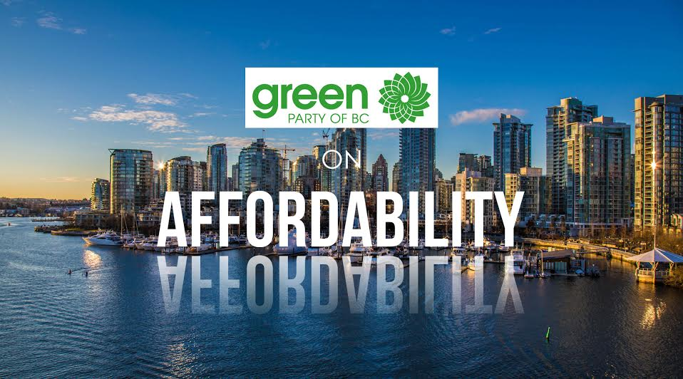 BC Election 2017: BC Greens and affordability in detail