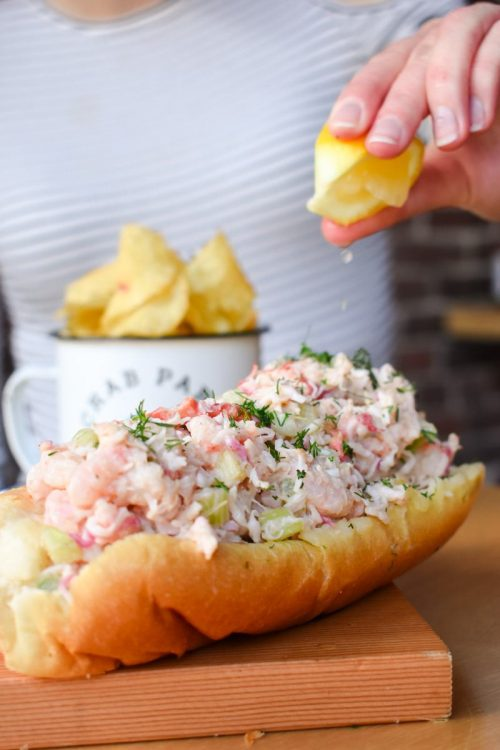 Lobster salad sandwich from Crab Park Chowdery