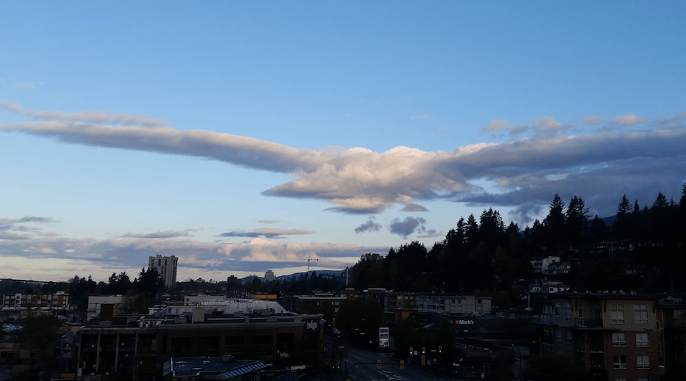Spotted on Reddit: This Vancouver cloud looks like a giant eagle