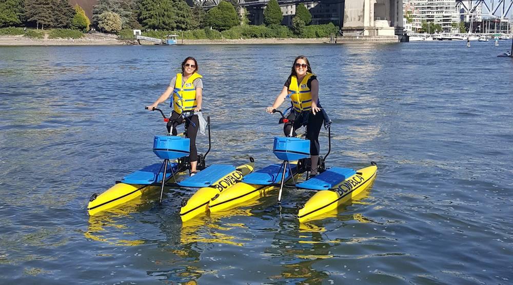 Bc water bike false creek english bay vancouver