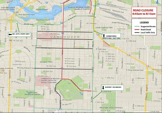 Road Conditions Vancouver: BMO Vancouver Marathon Road Closures