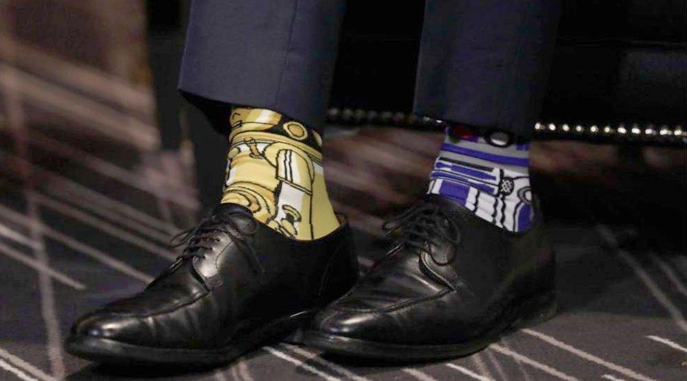 Justin trudeau socks star wars may 4