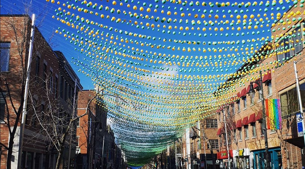 14 photos of the Gay Village's rainbow art installation