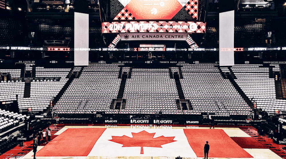 This is what the ACC is going to look like for tonight's Raptors playoff game