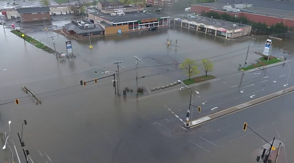 This insane video shows the extent of  flooding in Montreal's West Island