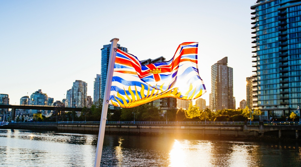 Beautiful british columbia flag