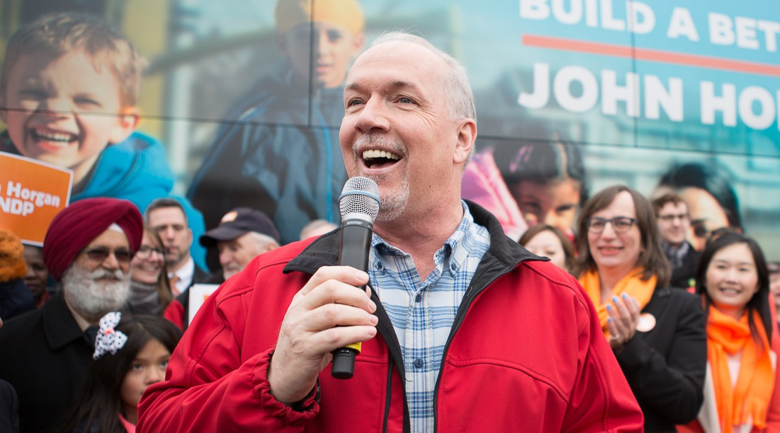 BC NDP leader John Horgan kicks off his campaigning (BC NDP/Flickr)