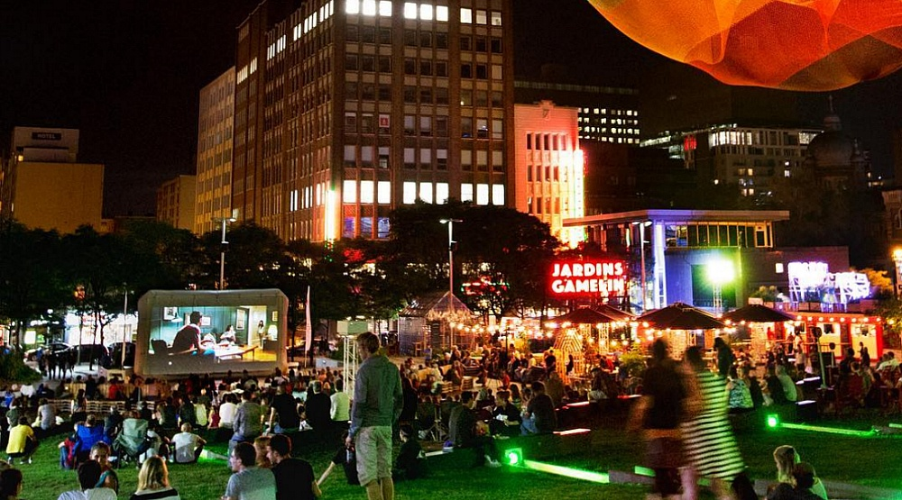 A free outdoor garden party is happening downtown this month