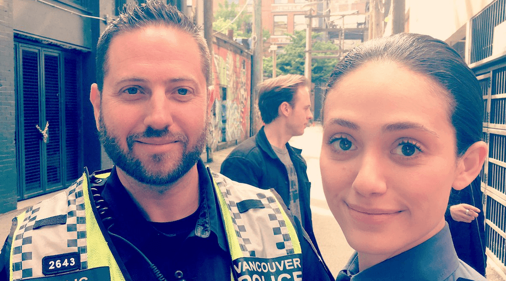 'Shameless' star Emmy Rossum joins Vancouver police on patrol in Gastown
