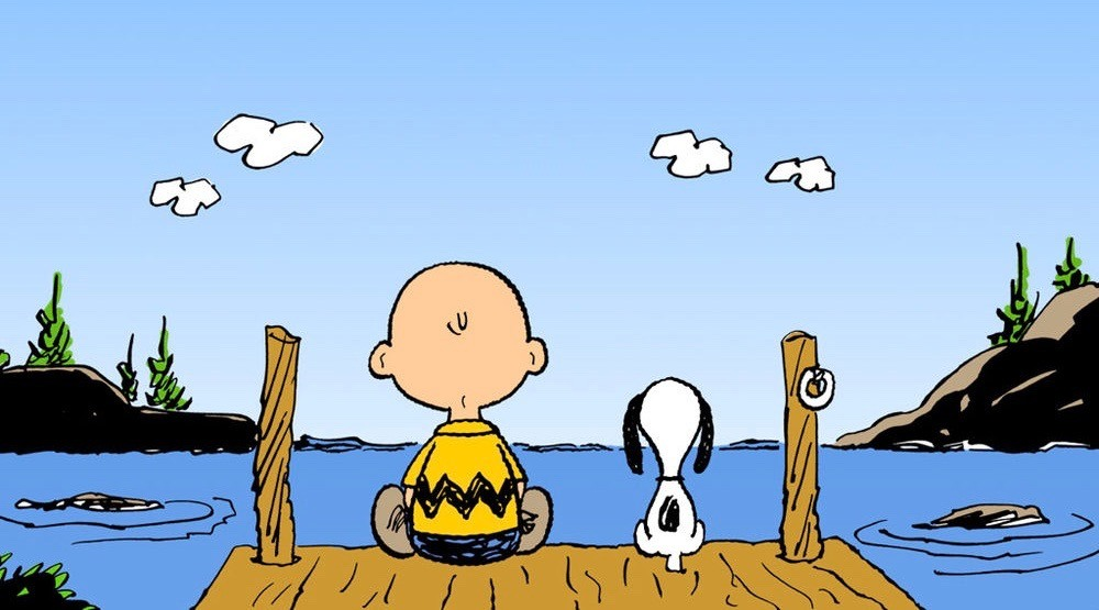 Charlie brown snoopy on dock 1