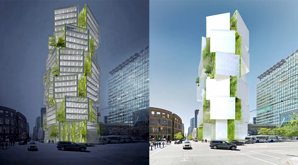 Lamp-inspired office tower in downtown Vancouver approved by