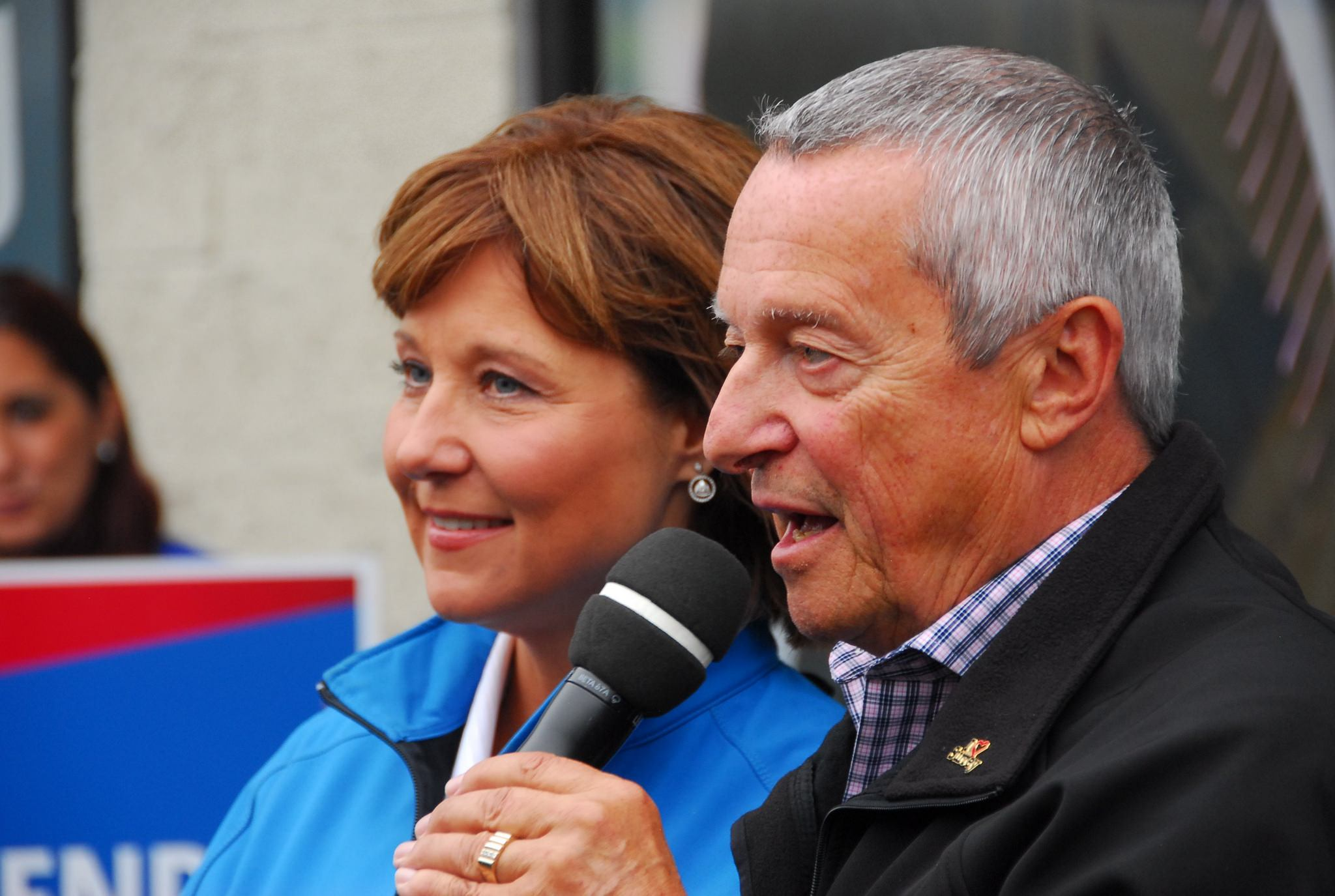 Former minister Peter Fassbender with BC Premier Christy Clark (Today's BC Liberals/Flickr)