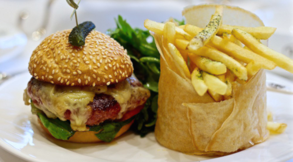 This Vancouver tea salon serves up a killer burger with matcha fries