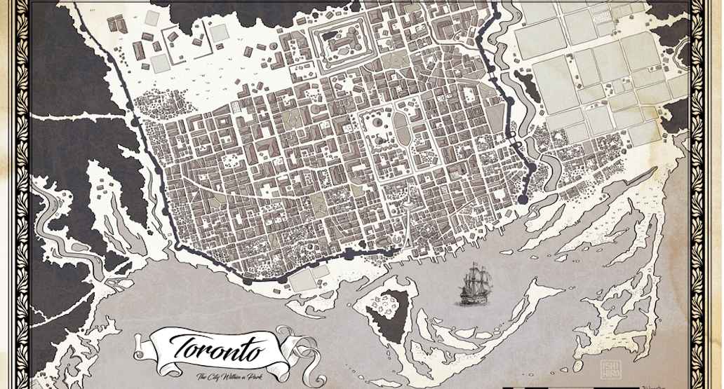 Reddit user creates old world fantasy map of Toronto | Etcetera