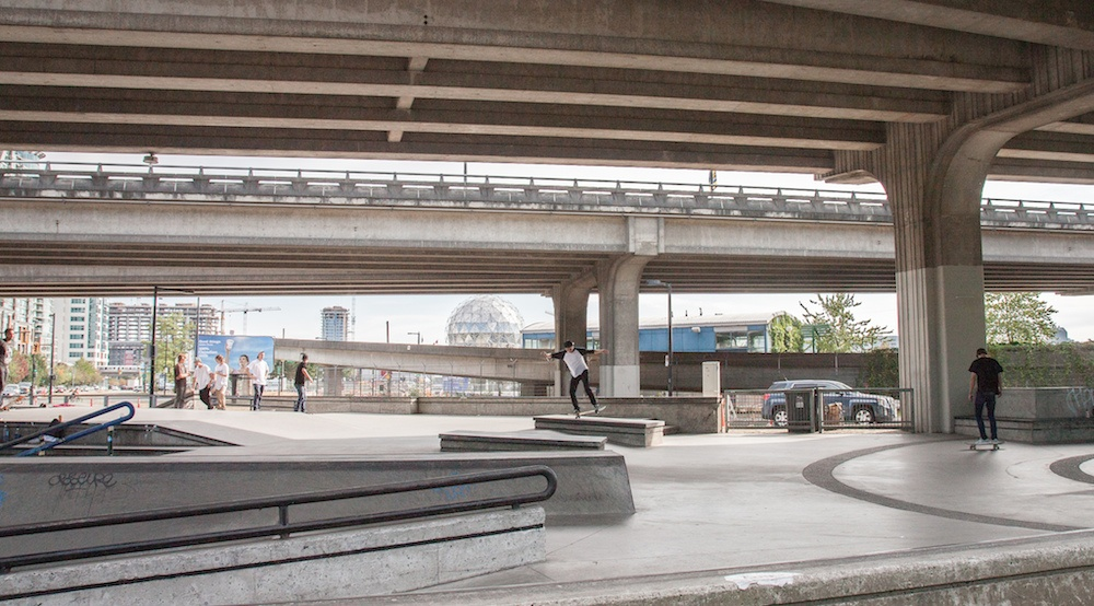 Downtown vancouver skatepark viaducts