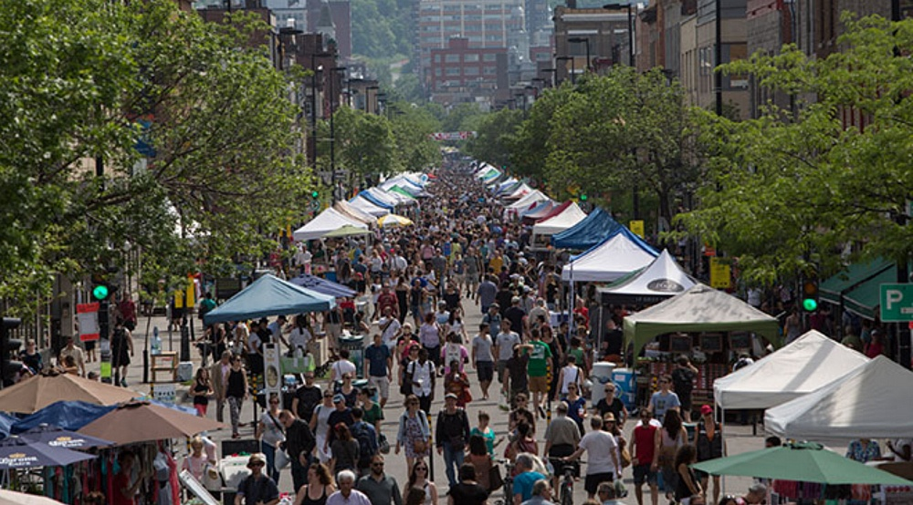 A massive open-air market is taking over Mont Royal Avenue