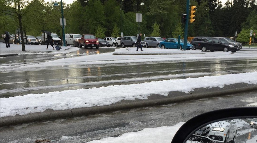Thunderstorm blankets Port Moody and Coquitlam with hail (PHOTOS, VIDEOS)