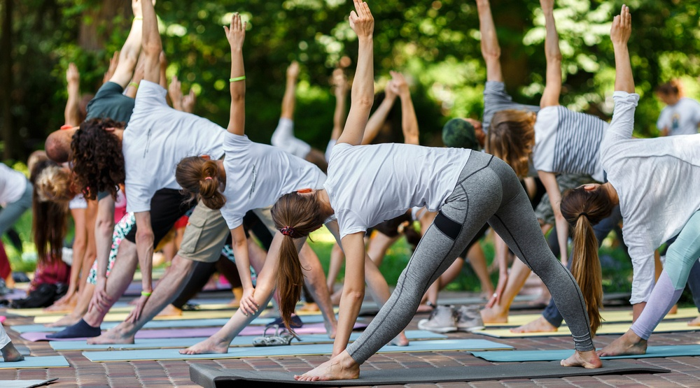 Free yoga in the park is happening all summer long