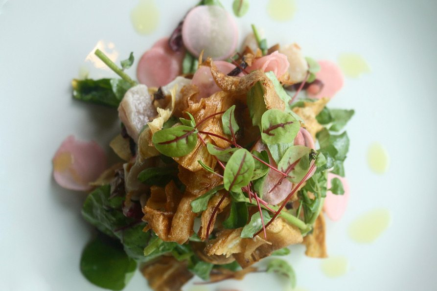 fayuca_Albacore Crudo Salad with Watercress