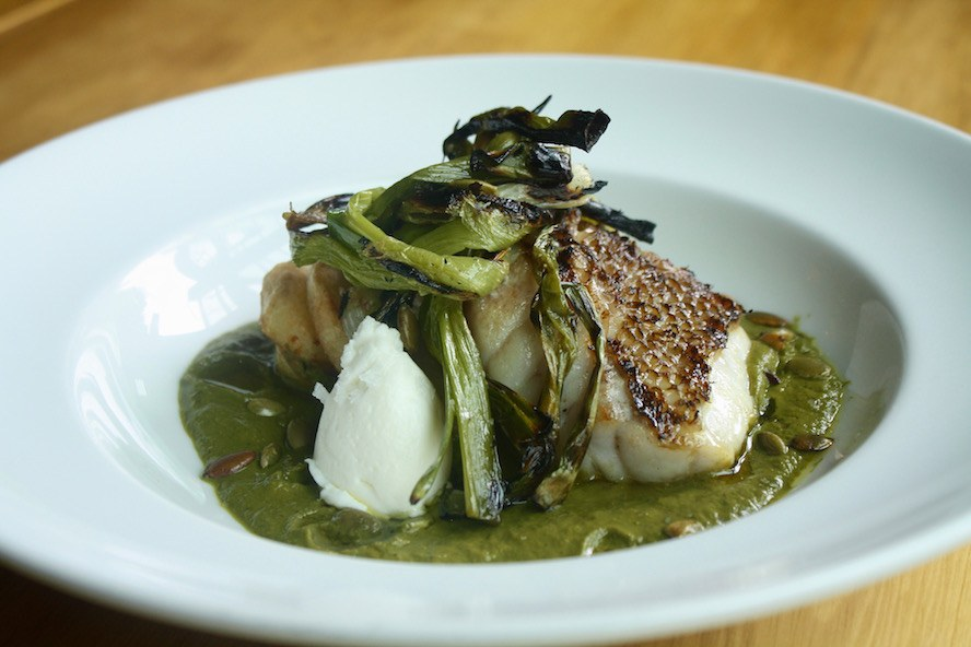 fayuca_Grilled Wild Rockfish with Green Nordic Pipian
