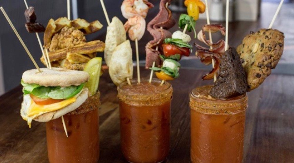 The garnishes at The Beltliner's make your own Caesar bar are ridiculous