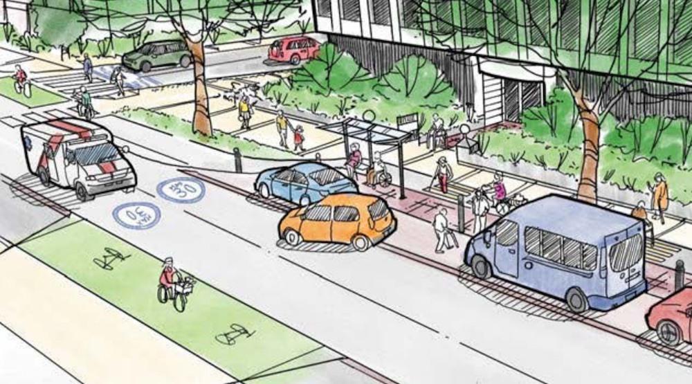 West 10th avenue bike lane