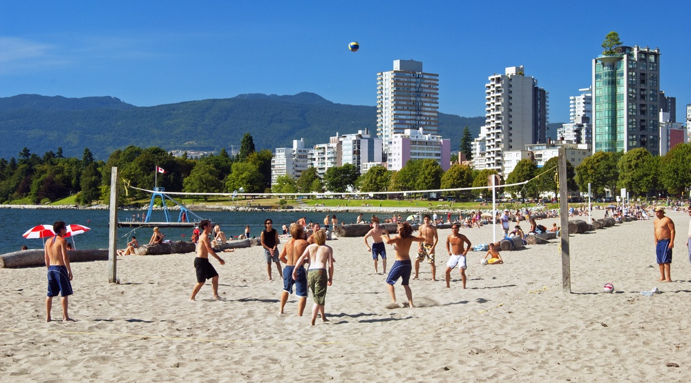 Vancouver english bay beach volleyball