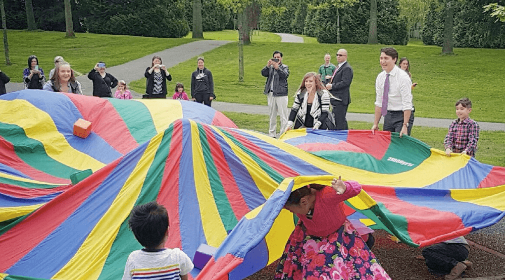 Justin Trudeau hangs out with preschoolers in Surrey