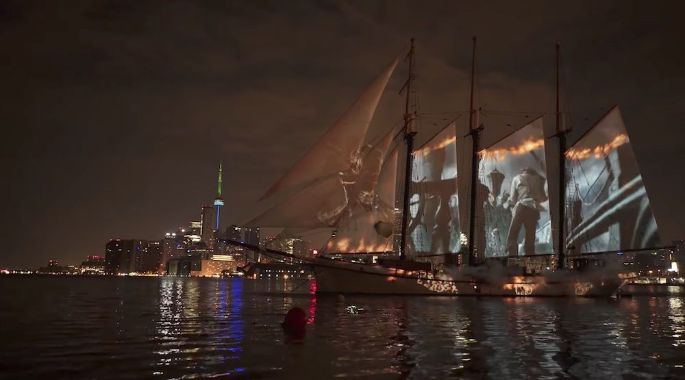 Pirates of the Caribbean 5 lights up tall ship in Toronto harbour (VIDEO)