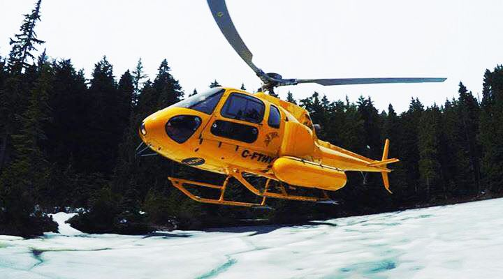 The nsr helicopter during the rescue on hollyburn mountain nsr facebook
